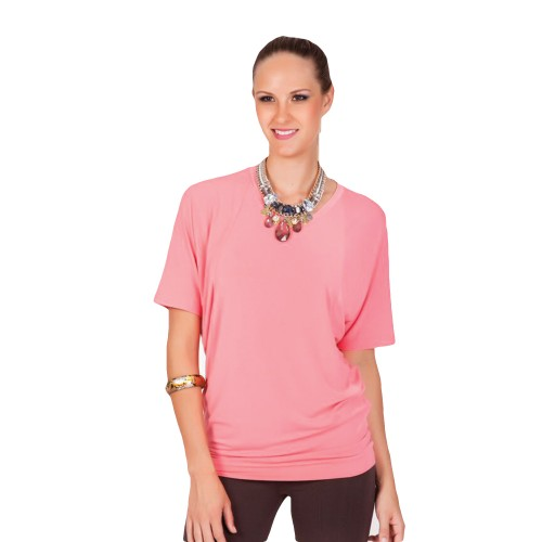 Bat Wing Top - Coral - Hooked On Bamboo