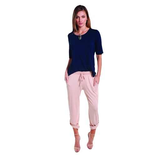 Bamboo Sophie Top - Navy - Hooked On Bamboo