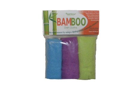 Bamlour™ Bamboo Dish cloths-hooked on bamboo
