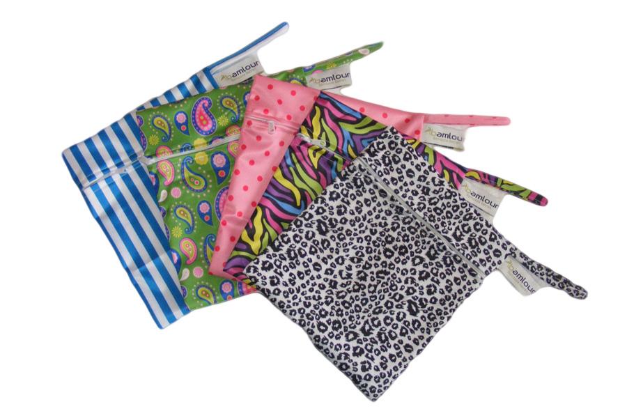 Wet Bag - hair wrap travel bag - hooked on bamboo