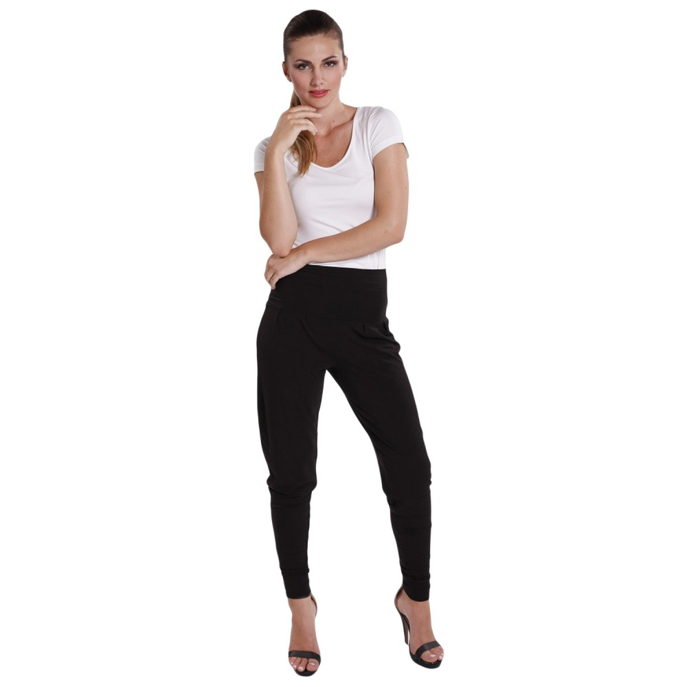 Slouch pants black - Hooked On Bamboo