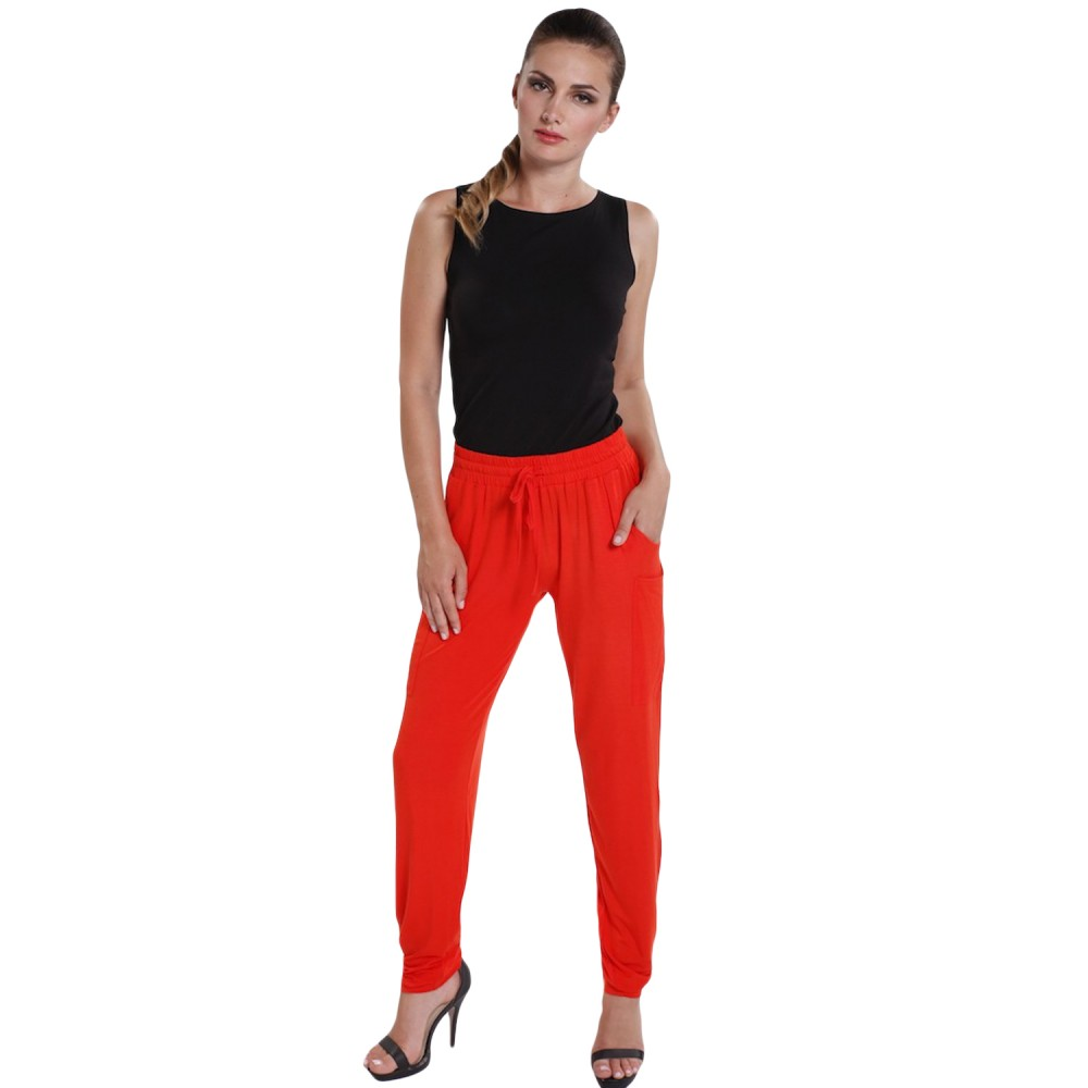 Tangerine easy fit pocket pants - hooked on bamboo