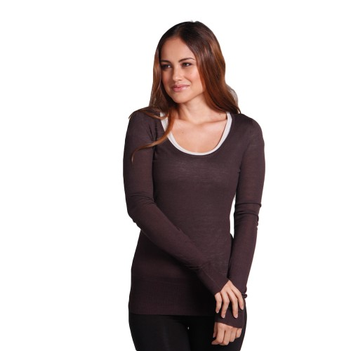 Bamboo body Featherweight Scoop Neck Knit Top
