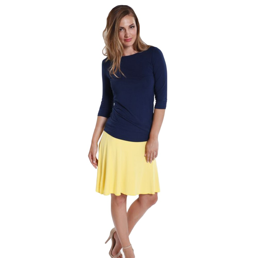 28e13bfd969f18 ... Bamboo Boat neck top- Navy - Hooked On Bamboo