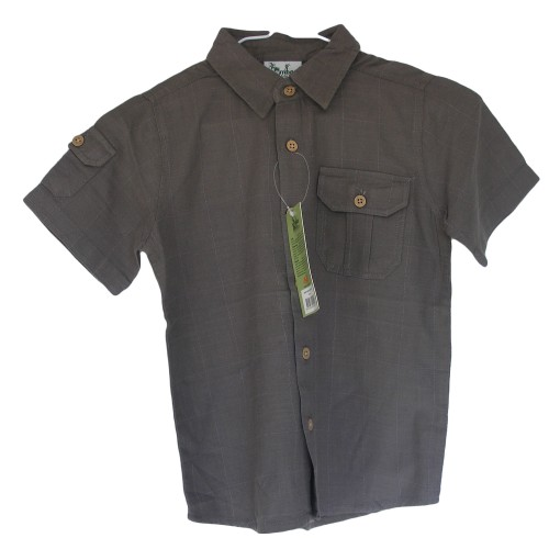 Bamboo Boys Dress Shirt Dark Pewter Bamboo Shirt - Hooked On Bamboo