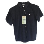 Bamboo Boys Dress Shirt Navy Bamboo Shirt - Hooked On Bamboo