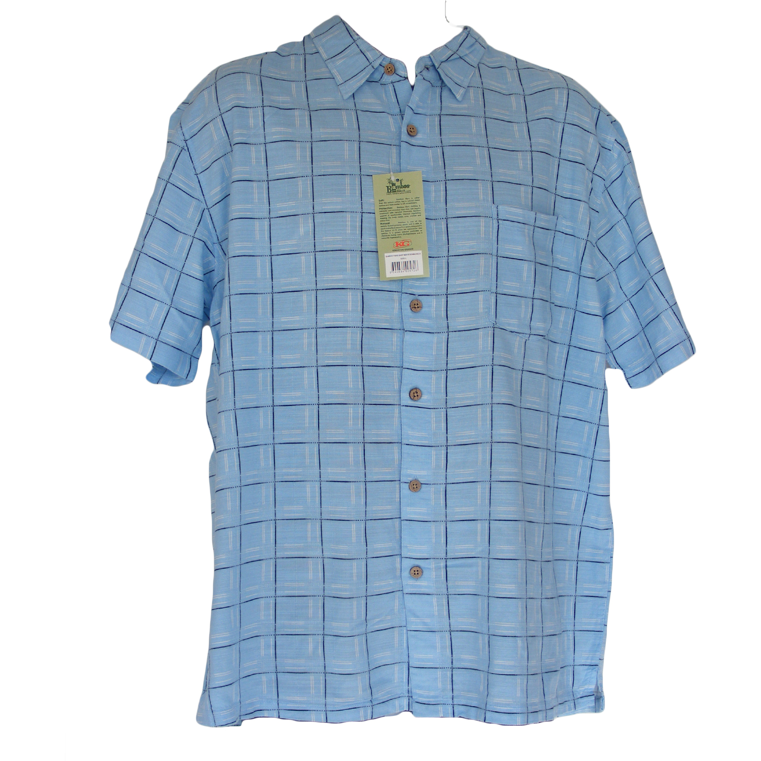 Men's Blue Check Bamboo Shirt - Hooked On Bamboo