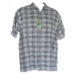 Men's Sketch Check Bamboo Shirt- Hooked On Bamboo
