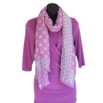 Pink Polka Dot Scarf - Hooked On Bamboo