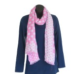 Pink Polka Dot Scarf - Hooked On Bamboo 2