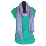 Lavender Bamboo Scarf - Hooked On Bamboo