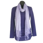Purple Bamboo Scarf - Hooked On Bamboo 2
