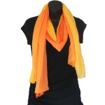 Sunset Orange Bamboo Scarf - Hooked On Bamboo