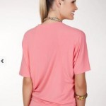 batwing top coral - hooked on bamboo